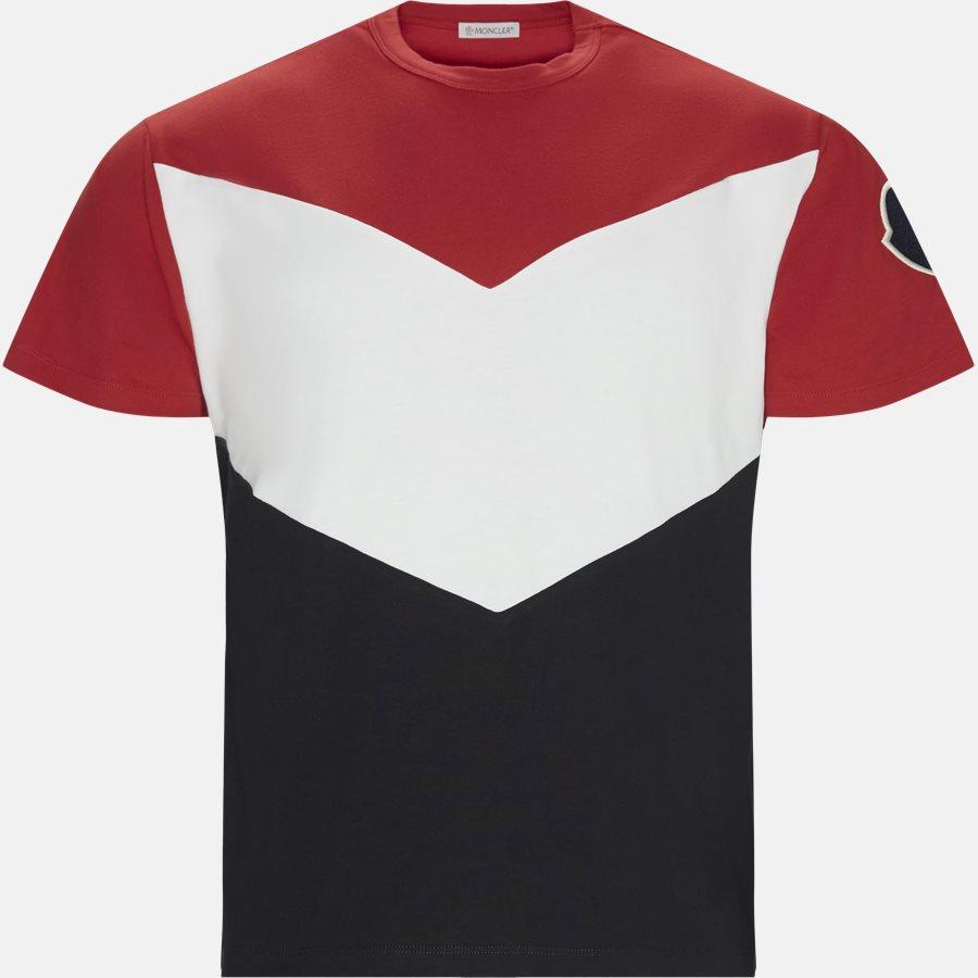 80010-00-839OT - T-shirts - Regular fit - NAVY/RØD - 1