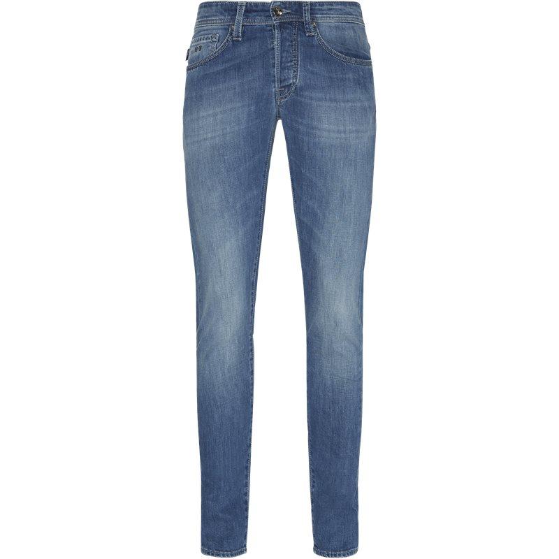 Sartoria tramarossa slim 1980 d214s  jeans denim fra sartoria tramarossa på axel.dk