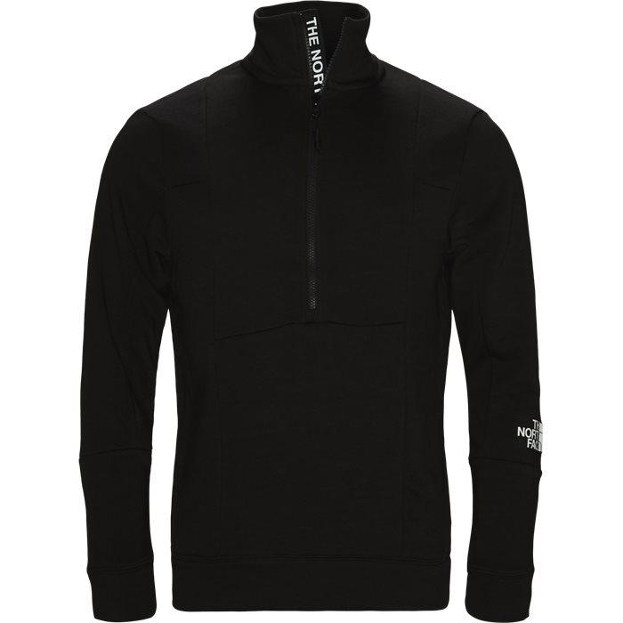 Light 1/4 Zip - Sweatshirts - Regular fit - Sort