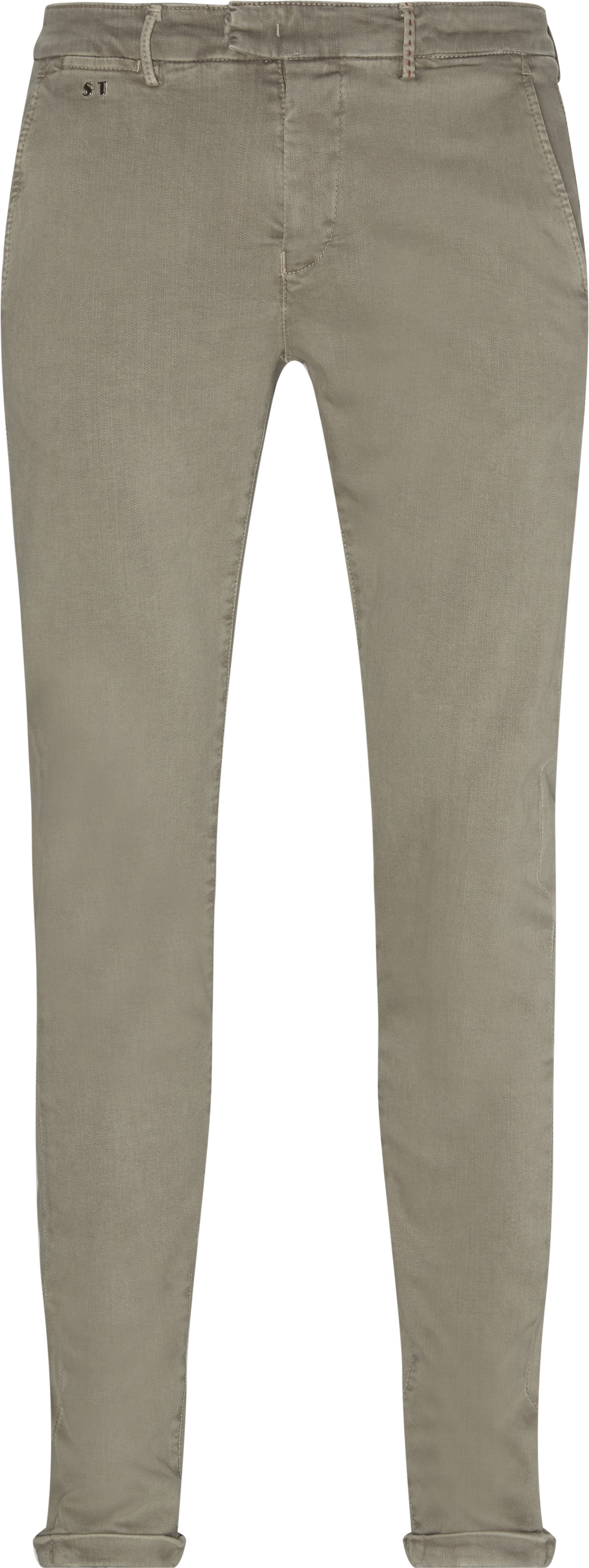 Trousers - Slim fit - Sand