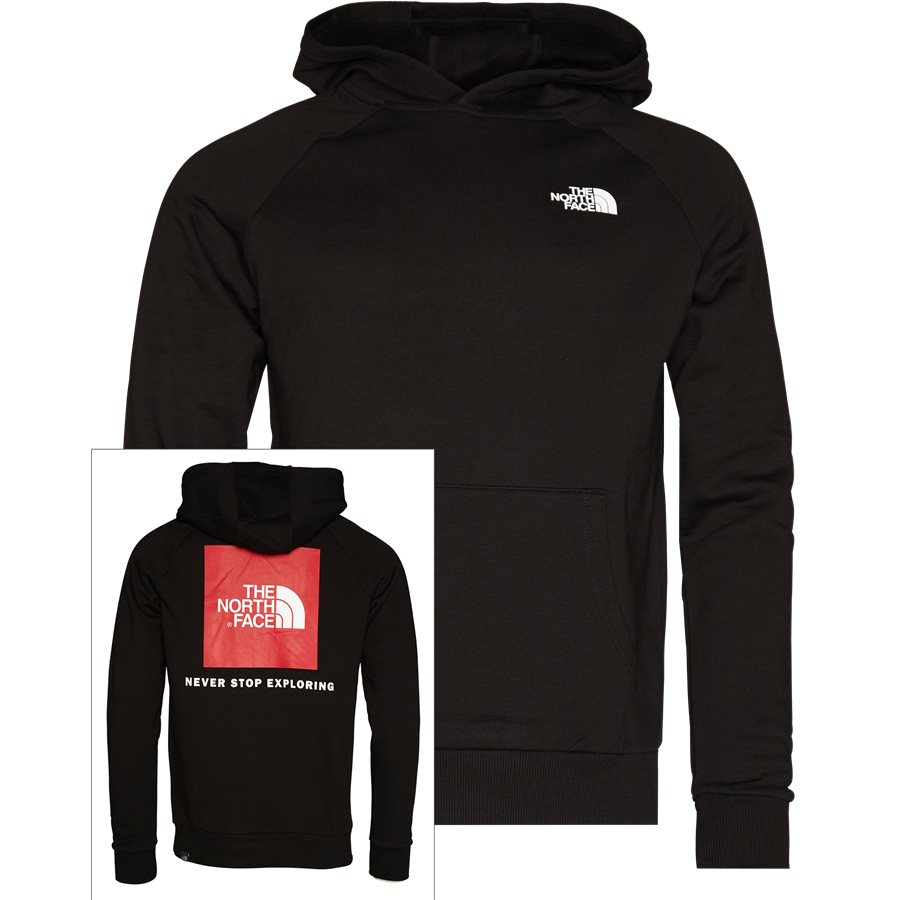 RED BOX HOODIE.. - Red Box Hoodie - Sweatshirts - Regular - SORT - 1