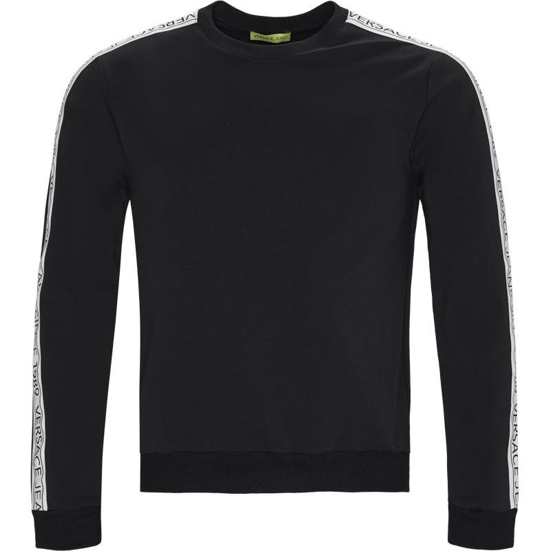 Versace jeans b7gtb7f9 crewneck sweatshirt sort fra versace jeans på quint.dk