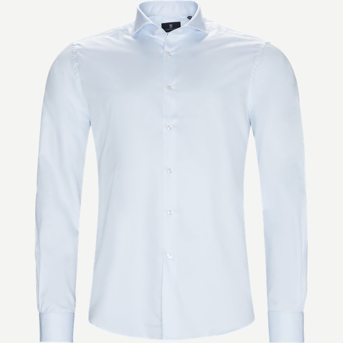 Dressed 2-Ply Shirt - Skjorter - Tailored fit - Blå