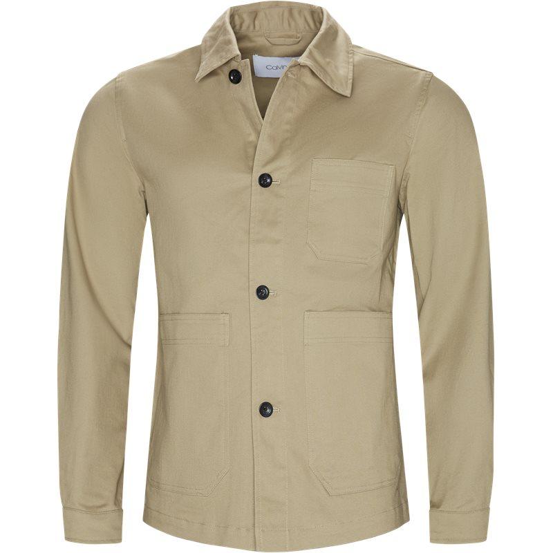 Billede af Calvin Klein Regular fit K10K103719 COTTON WORK WEAR Skjorter Khaki