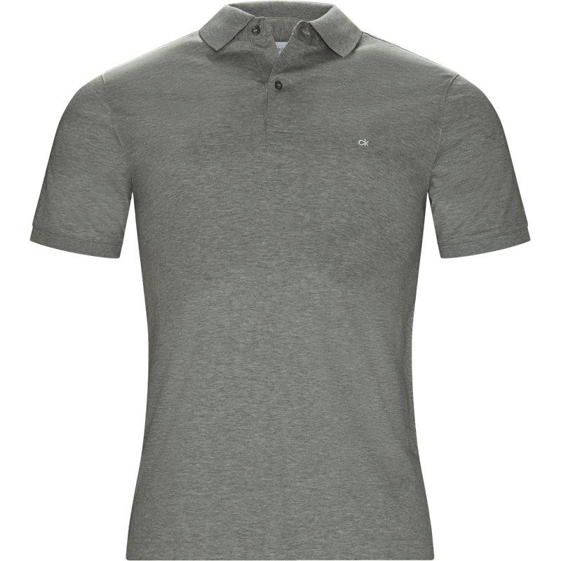 Billede af Calvin Klein Regular fit K10K103378 CHEST LOGO POLO T-shirts Grey