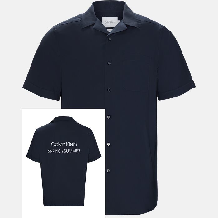 Short-sleeved shirts - Relaxed fit - Blue