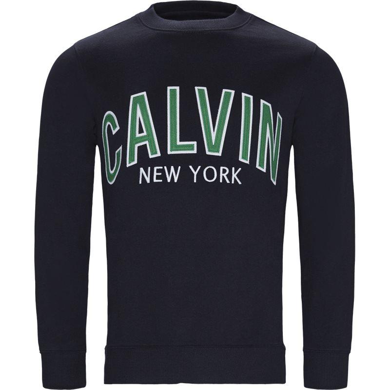 Billede af CALVIN KLEIN JEANS J30J311249 ALVIN GRAPHIC CREW NECK Sweatshirts Navy