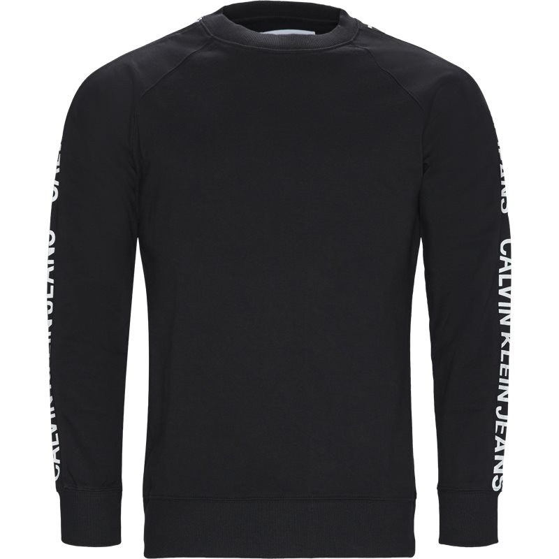 Billede af CALVIN KLEIN JEANS Regular fit J30J312248 INSTIT SIDE STRIBE CREW N Sweatshirts Sort