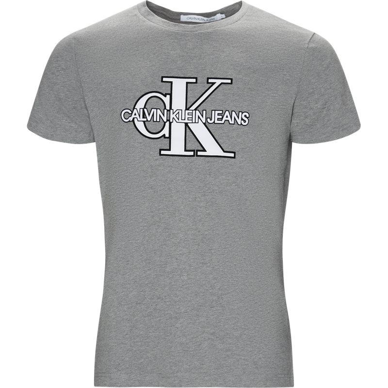 Billede af CALVIN KLEIN JEANS Regular fit J30J311649 MONOGRAM FRONT LOGO SLIM T-shirts Grå
