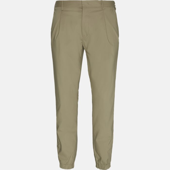 Trousers - Regular slim fit - Sand