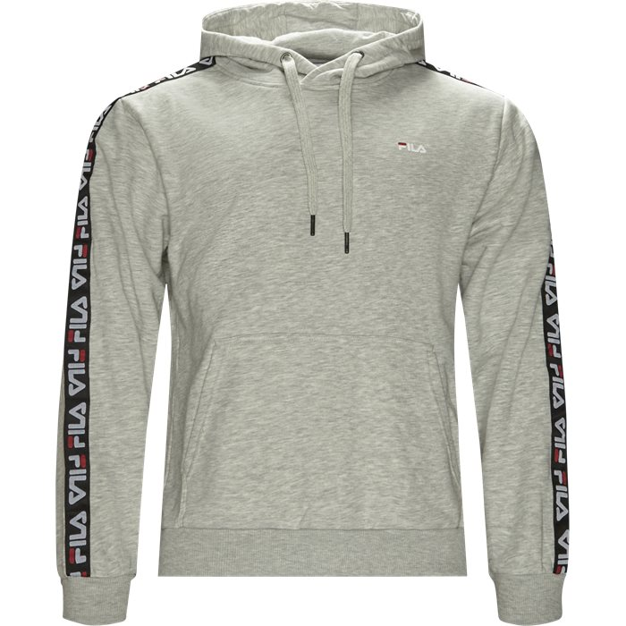 David Tape Hoodie  - Sweatshirts - Regular - Grå