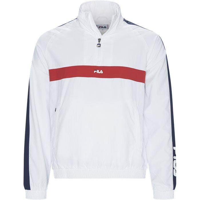 Jona Woven Half Zip Jacket - Jakker - Hvid