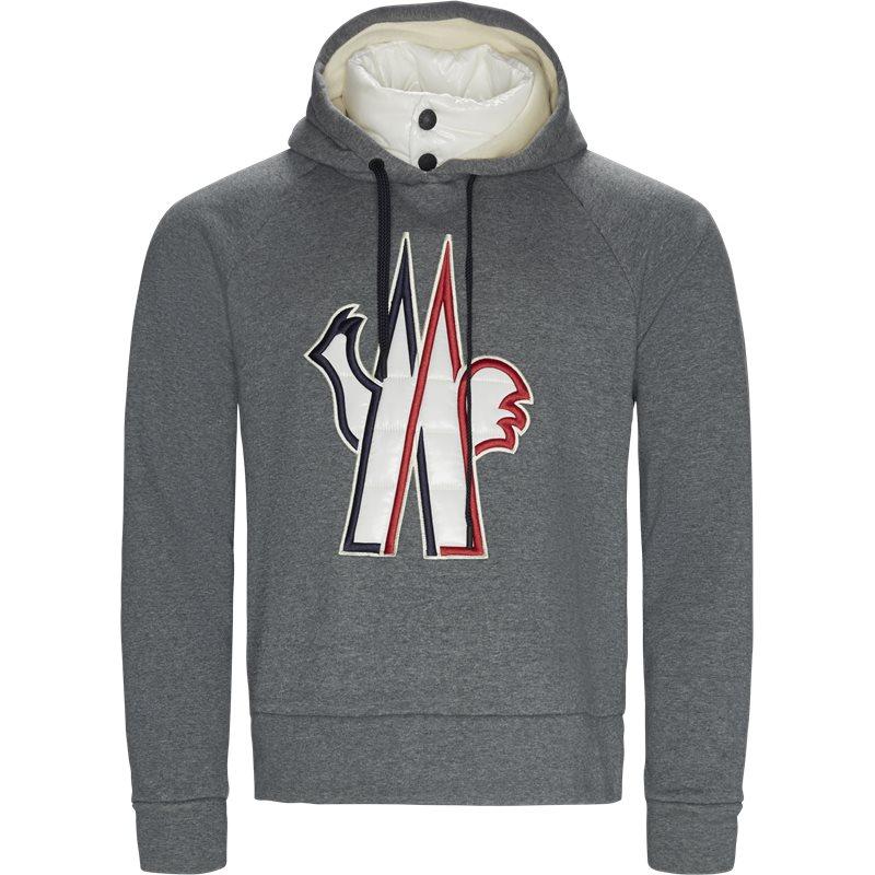 moncler grenoble Moncler grenoble regular fit 8000450 8099f sweatshirts grey fra axel.dk