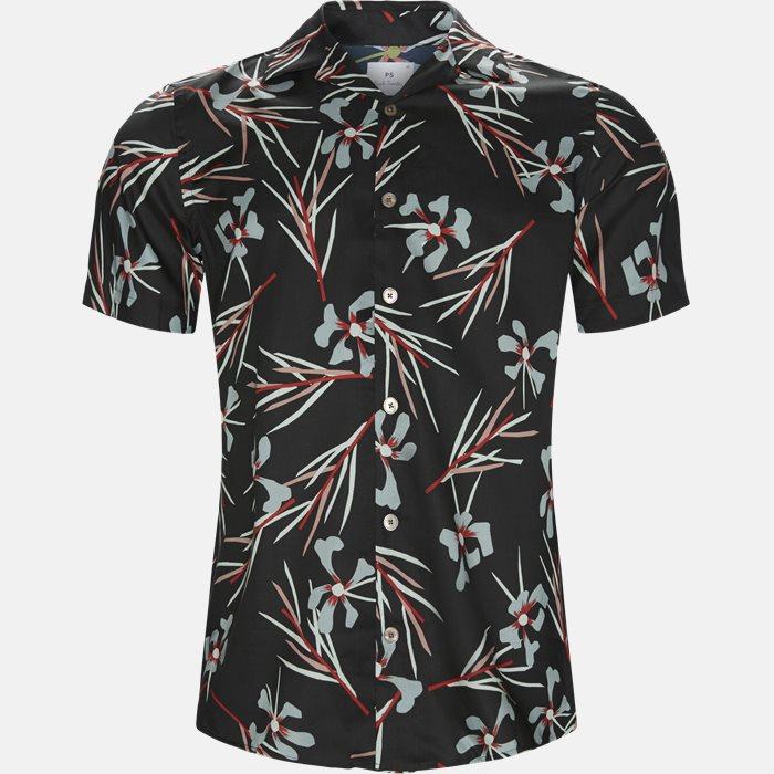 Kortærmede skjorter - Casual fit - Sort