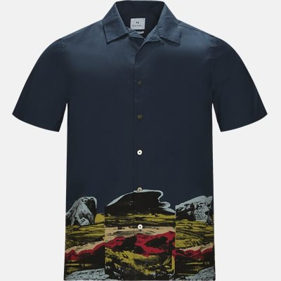 Casual fit | Shirt-sleeved shirts | Blue