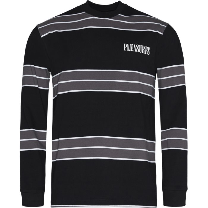 Spirit Stripe L/S - T-shirts - Sort