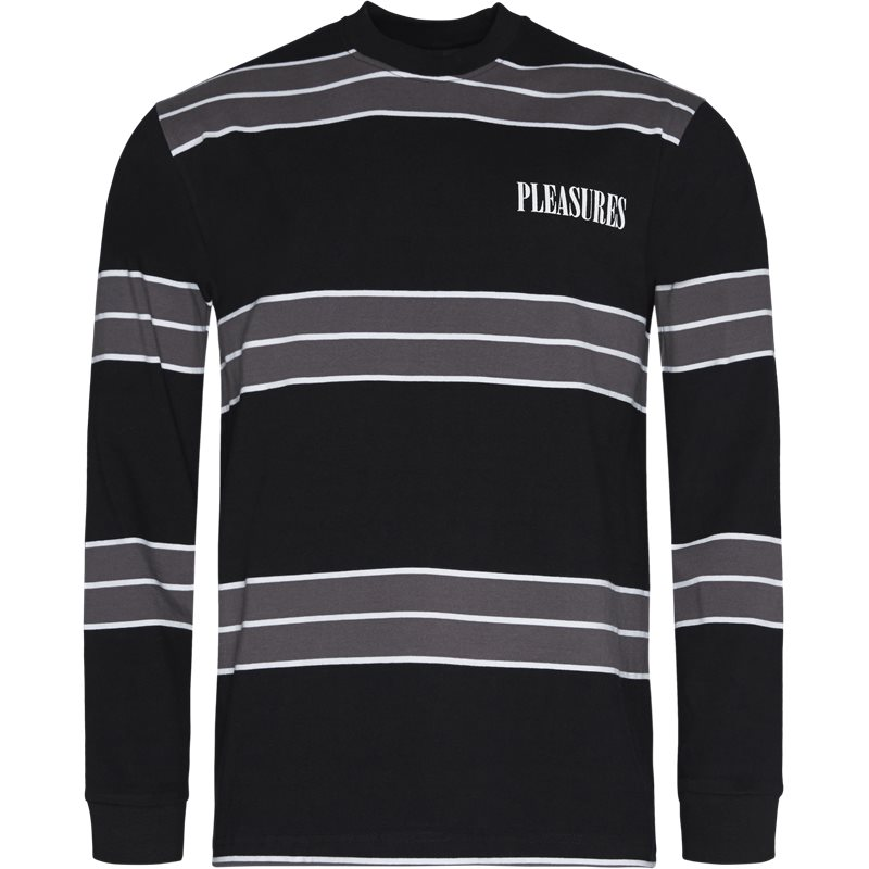 Billede af Pleasures Now Spirit Stripe L/s T-shirts Sort
