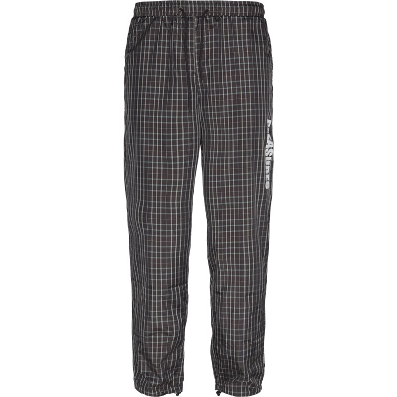Billede af Pleasures Now Plaid Athletic Wind Pant Bukser Brun
