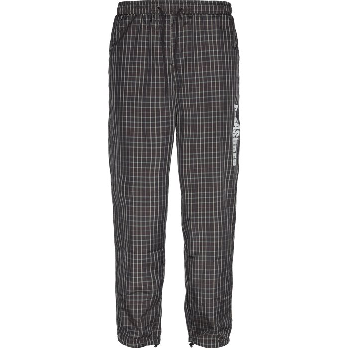 Plaid Athletic Wind Pant - Bukser - Loose - Brun