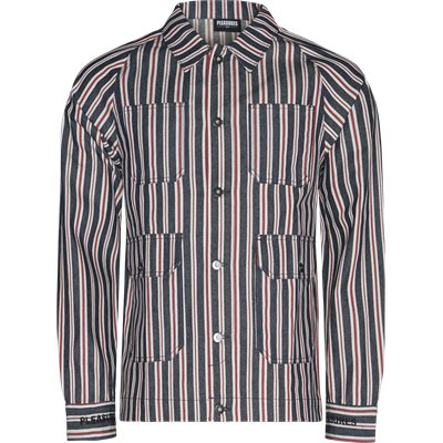 Striped Denim Utility Jacket Regular | Striped Denim Utility Jacket | Denim