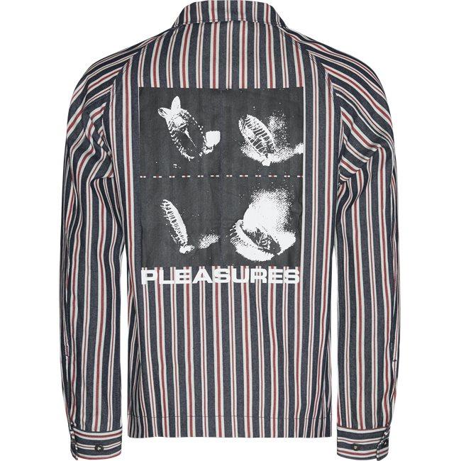 Striped Denim Utility Jacket