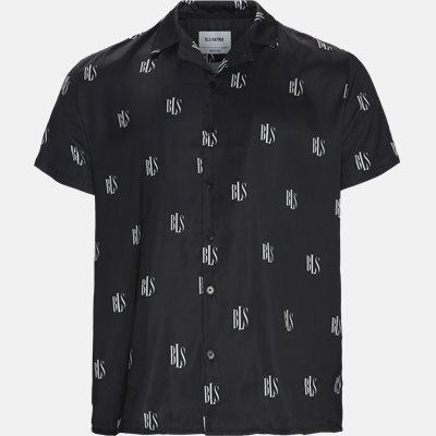 Regular fit | Kortærmede skjorter | Sort