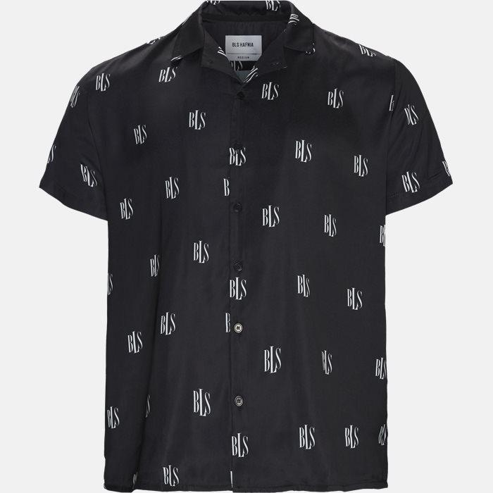 Kortærmede skjorter - Regular fit - Sort
