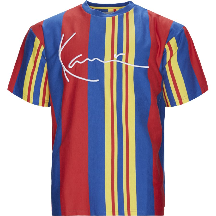 SIGNATURE STRIPE 3704586 - KK Signature Stripe Tee - T-shirts - Regular - RØD/BLÅ/GUL - 1