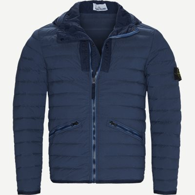 Loom Woven Down Chambers Stretch Nylon Jacket Regular | Loom Woven Down Chambers Stretch Nylon Jacket | Denim
