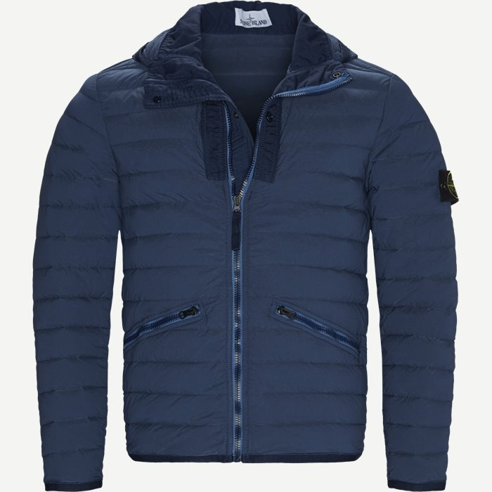 Loom Woven Down Chambers Stretch Nylon Jacket - Jakker - Regular - Denim