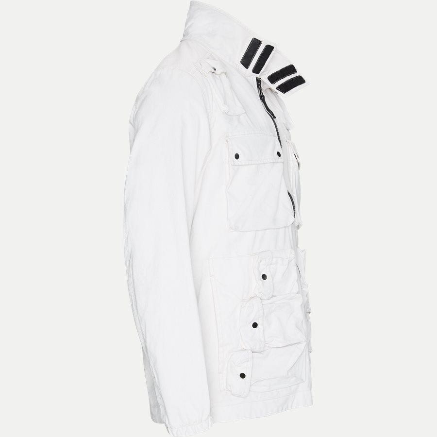 701543764 - Canvas Jacket - Jakker - Regular - HVID - 4