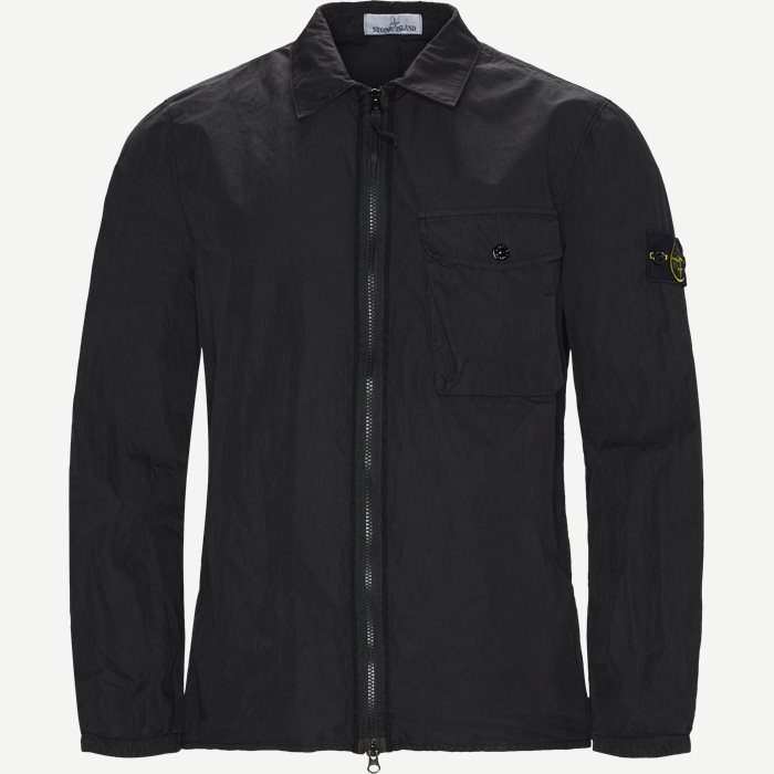 Full Zip Skjorte  - Skjorter - Regular - Sort