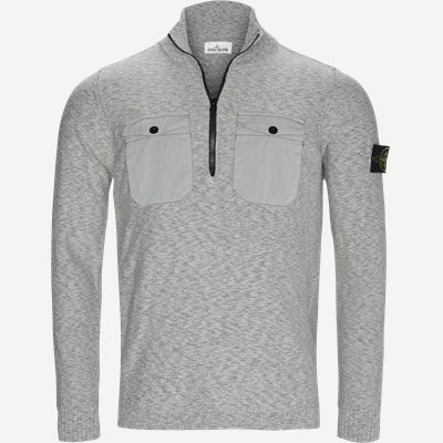 Half Zip Knit Regular | Half Zip Knit | Grå