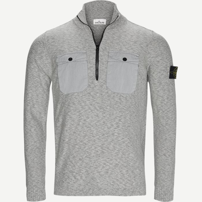 Half Zip Knit - Strik - Regular - Grå
