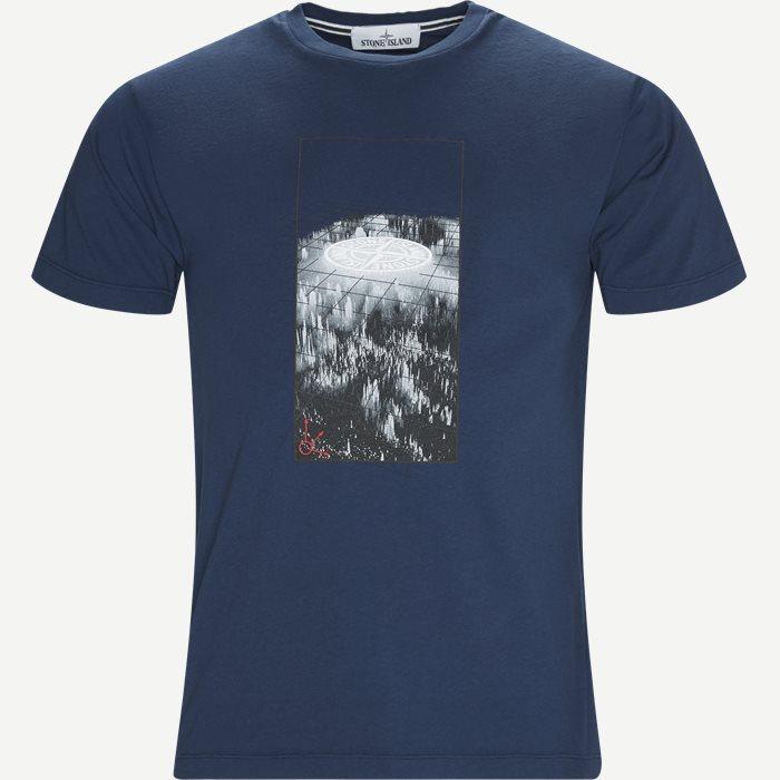 Logo Tee - T-shirts - Regular - Blå
