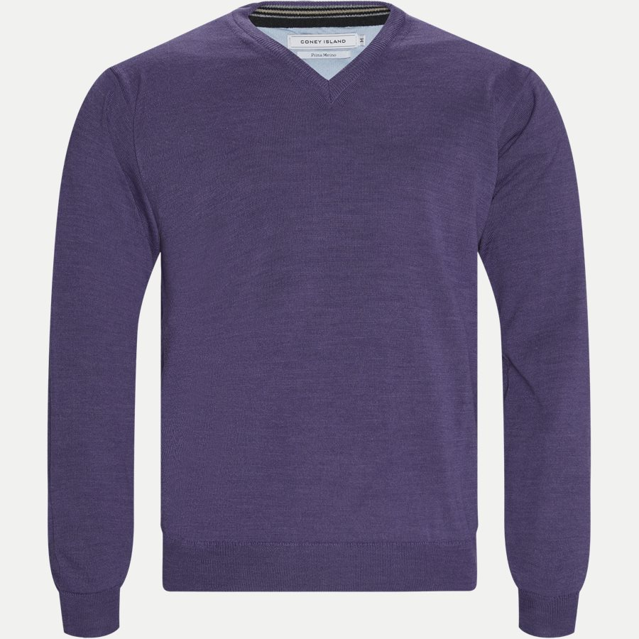 SMARALDA - Smaralda V-Neck Striktrøje - Strik - Regular - PURPLE - 1