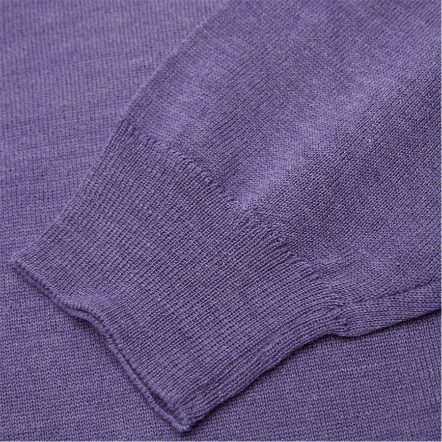 SMARALDA - Smaralda V-Neck Striktrøje - Strik - Regular - PURPLE - 3