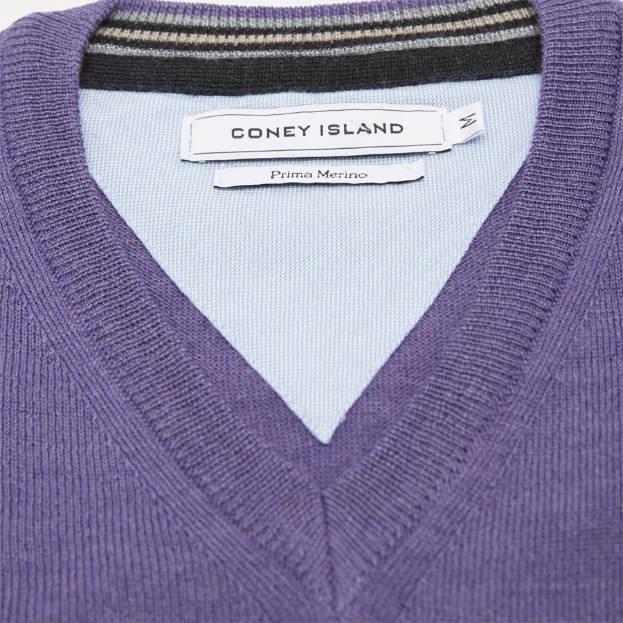 SMARALDA - Smaralda V-Neck Striktrøje - Strik - Regular - PURPLE - 5