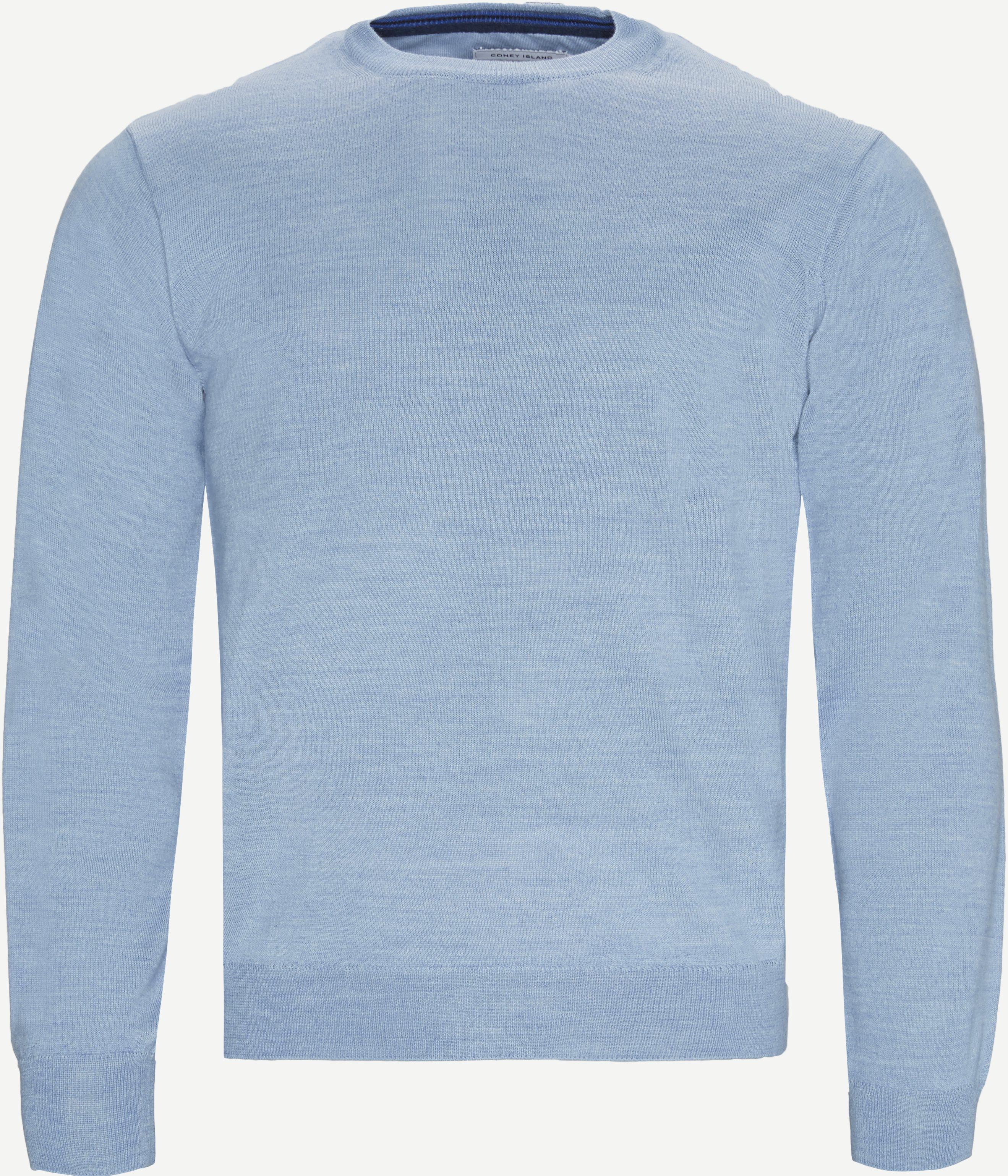 Stickat - Regular fit - Blå
