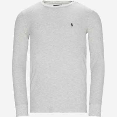 Waffel Crew Neck Long Sleeve Slim | Waffel Crew Neck Long Sleeve | Grå