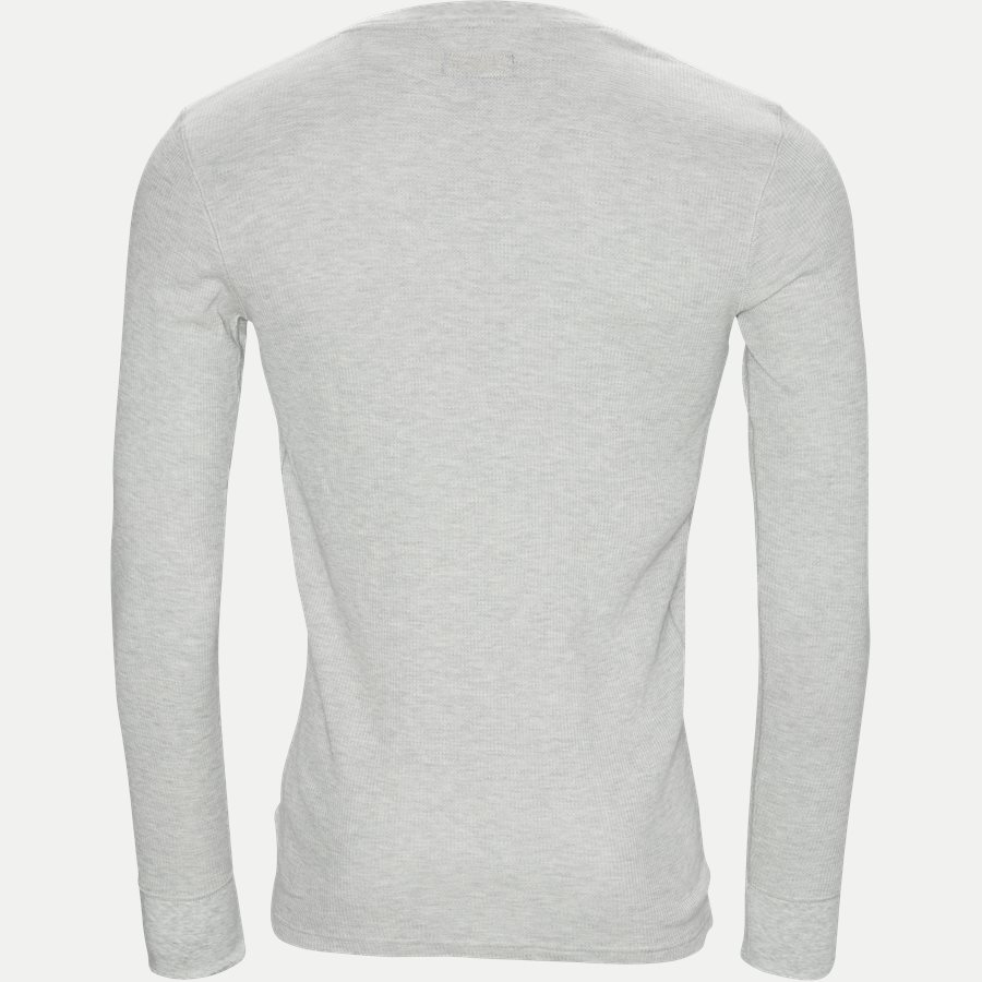 714705228 - Waffel Crew Neck Long Sleeve - T-shirts - Slim - GRÅ - 2