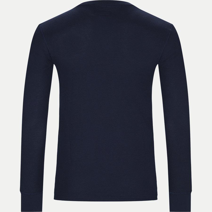 714705228 - Waffel Crew Neck Long Sleeve - T-shirts - Slim - NAVY - 2