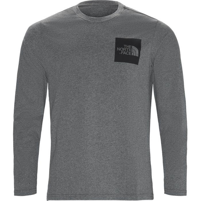 Fine LS Langærmet T-shirt - T-shirts - Regular - Grå