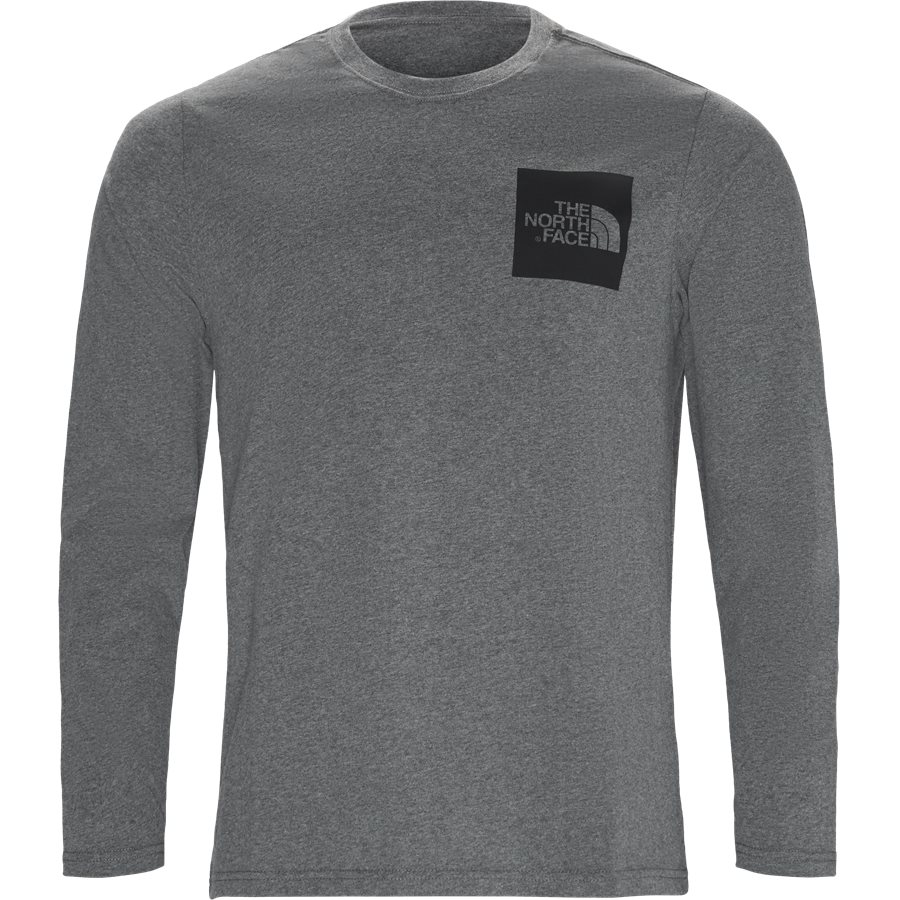 FINE LS - Fine LS Langærmet T-shirt - T-shirts - Regular - GRÅ - 1