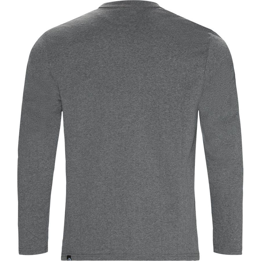 FINE LS - Fine LS Langærmet T-shirt - T-shirts - Regular - GRÅ - 2