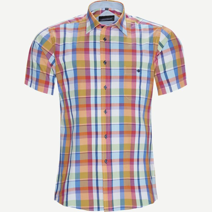 Chong Kortærmet Skjorte - Kortærmede skjorter - Regular - Orange