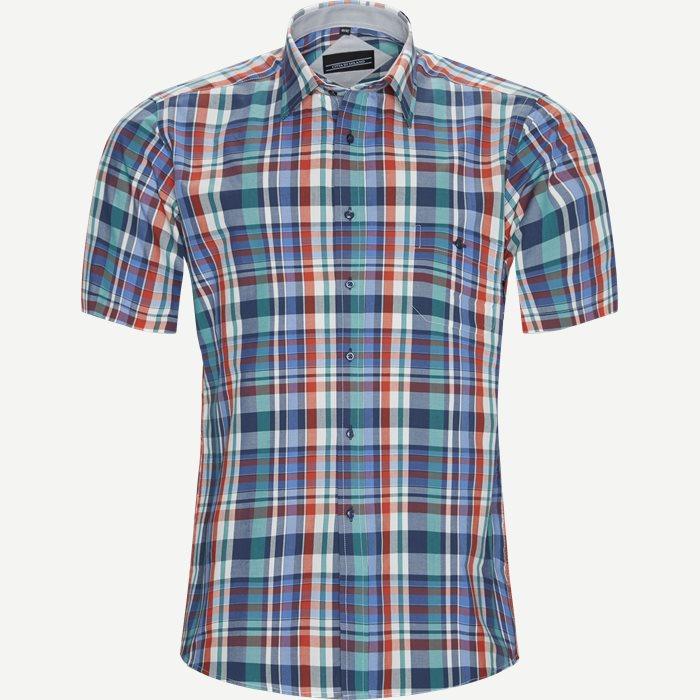 Kortärmade skjortor - Regular - Grön