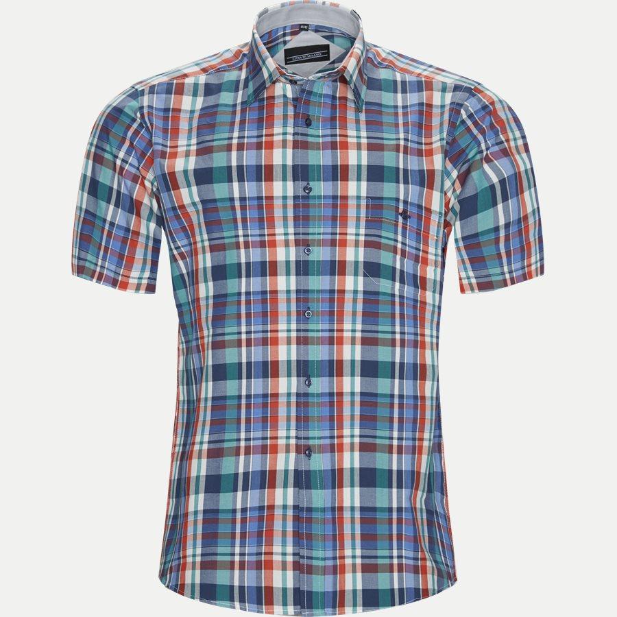 FENG - Feng Kortærmet Skjorte - Skjorter - Regular - GREEN - 1