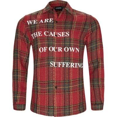Suffering Button Up Skjorte Regular fit | Suffering Button Up Skjorte | Rød