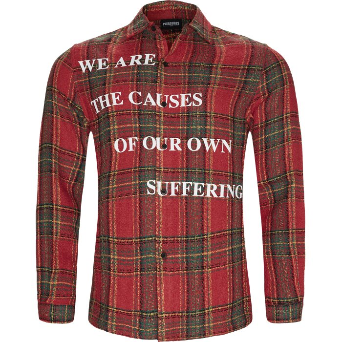 Suffering Button Up Skjorte - Skjorter - Regular - Rød